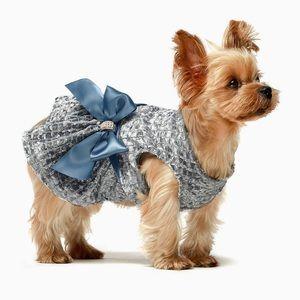 Fitwarm Small Blue Dog Pet Dress NWT